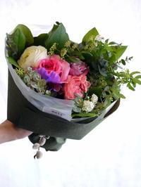 送別用の花束。女性用。「ピンク系、可愛らしく」。東札幌にお届け。2017/03/23。 - 札幌 花屋 meLL flowers