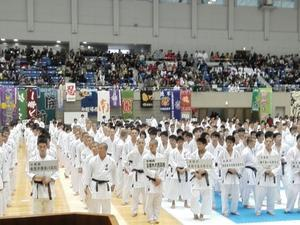 第36回全国高等学校空手道選抜大会《第1日》開会式 - 大阪学芸高校 空手道応援ブログ