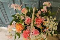 鍼灸院移転のお祝い バスケットアレンジ - 北赤羽花屋ソレイユの日々の花
