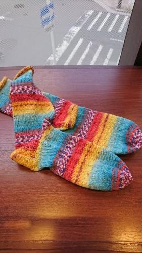 平和の靴下 - しろつめくさとジャングルジム ( weaver* )