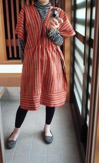 縞木綿のタブリエ/着物リメイク - 和ゆうの手しごと帖 ーWayu's Handmadeー