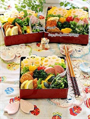 ちらし寿司弁当とハッセルバックポテト♪ - ☆Happy time☆