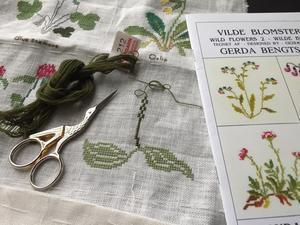 Wildflowers 2?Plantain - Needlework Note