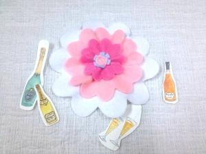 ☆簡単な手間で立体感・フェルトの花飾り☆ - ガジャのねーさんの  空をみあげて☆ Hazle cucu ☆