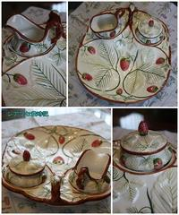 ティファニーのイチゴ皿。 - シアワセ歳時記