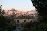 夕日に染まるリカヴィトスの丘 - ねこ旅また旅