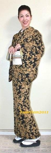今日の着物コーディネート♪(2017.3.27)~服地小紋&染め名古屋帯編~ - 着物、ときどきチロ美&チャ美。。。お誂えもリサイクルも♪