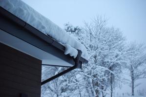 日陰は30cmくらいの積雪。 - キシノウエンの 今日のてしごと