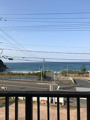 春の海に入ってから学習する。 - 海辺のカフェ&ペンション デルマー