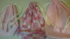 色々な巾着 - 文京区 洋裁教室「ほっこりソーイング」初心者さんのソーイングカフエ
