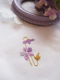 WSのご案内*すみれのフレーム刺繍♪*大阪豊中市 イグレックマニ - chic-chic