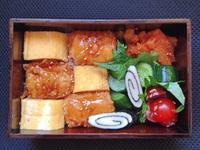 3/28 いか天&玉子焼丼弁当 - ひとりぼっちランチ