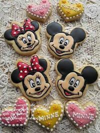 ミッキー*ミニーのアイシングクッキー - nanako*sweets-cafe♪