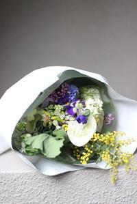 ikanika 花の会「ブーケ作り」・・・♪ - 手づくりひとてまの会『文京区 初心者さん向け洋裁教室』