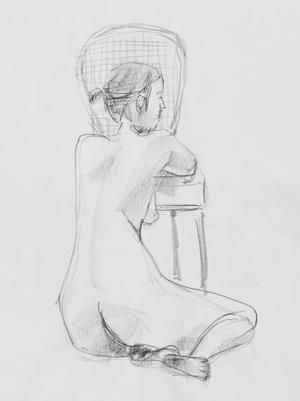 裸婦クロッキー - 飯島眞澄の江見ギャラリー