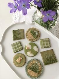抹茶アイシングクッキーレッスン のお知らせ - Misako's Sweets Blog アイシングクッキー 教室 シュガークラフト教室 フランス菓子教室 お菓子 教室