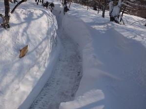 吹雪の後の野天風呂 - 高峰温泉の四季の移り変わりを写真と一言コメントで楽しんでください。