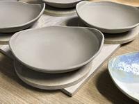 【だえん小皿】 - 出張陶芸教室げんき工房