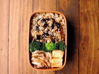 3/23(木)茄子そぼろ弁当 - おひとりさまの食卓plus