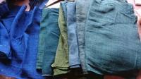 春風にそよぐ 蚊帳 オーバースカート - 古布や麻の葉