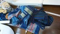 縞接ぎ合わせて被りベスト 2枚 - 古布や麻の葉