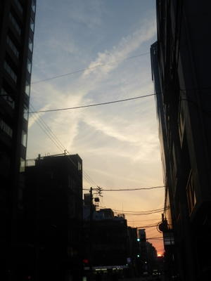 昨日の大阪の空 - ショコラのブログ