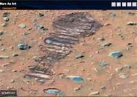 画像:火星地表にある「飛行士の足跡」?! /  Mars As Art - 「つかさ組!」