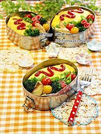 オムライス弁当と大豆の水煮と~♪ - ☆Happy time☆