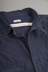 KAPITAL Anorak Shirt (Navy) - un.regard.moderne