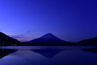 青い精進湖 - 風とこだま