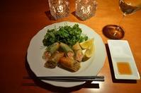 2種の春巻き/たっぷりパクチーwithレモン - まほろば日記