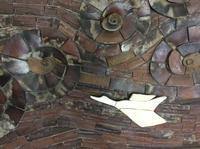 壁一面に「さすが備前市。超贅沢な備前焼のレリーフ」編。 - 岡山の実家・持家・空き家&中古の家をリノベする。