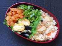 3/31 ホタテの炊き込みご飯弁当 - ひとりぼっちランチ