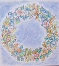 Thank you!! 彩色例の投稿 『ジョハンナからの贈りもの』by 優海さん - オトナのぬりえ『ひみつの花園』オフィシャル・ブログ