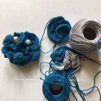 ブローチ     my brooch - 糸始末な日々         Thread&Yarn Handing Days