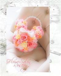 ミニーちゃんテイストバックブーケ - FlowerSalonRosery
