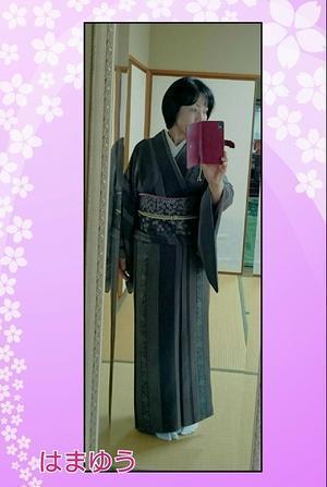 桜柄を愛でて♪ - 山口下関市の着付け教室*出張着付けはまゆうスタイル