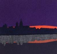 フェルト絵本「夕暮れの匂い」のページ - SAKOmama  布絵本工房