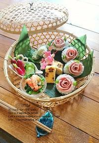 イエシゴトVol.200 5周年記念・薔薇海苔巻きランチ - YUKA'sレシピ♪