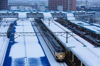 青森駅と583系 - ロッキー温泉