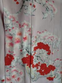 桜の着物で着物の催事へ - うららフェルトライフ
