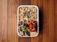 4/1(土)豚と小松菜のからし醤油和え弁当 - おひとりさまの食卓plus