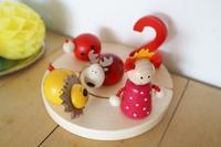 かわいい「Rundum」社の誕生日用の木製キャンドルホルダー☆ - ドイツより、素敵なものに囲まれて