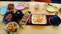 オイルレザーソファーが届いた日のお夕飯 - 湘南でビール