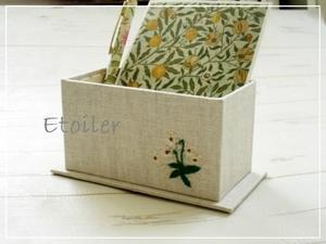 四角い箱(カルトナージュの基本) - Etoiler(エトワレ)東京都 杉並区のカルトナージュ教室
