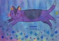 夜のネコ - 水の色時間