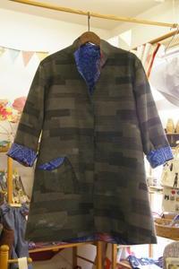 着物リメイク 大島紬と銘仙のリバーシブルジャケット - warmheart*洋服のサイズ直し・リフォーム*