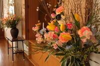 入園式の花 桜とチューリップ - 北赤羽花屋ソレイユの日々の花