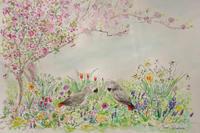 ヨウムのいる庭 - miwa-watercolor-garden