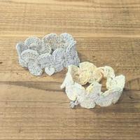 コットン手編みブレスレット - 手づくり屋 mushroom